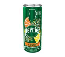Perrier Sparkling Sleek Can 330ml L'Orange