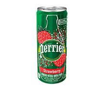 Perrier Sparkling Sleek Can 330ml Strawberry