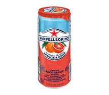 SANPELLEGRINO Sparkling Fruit Beverage Sleek Can 330ml Aranciata Rossa (Blood Orange)