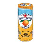 SANPELLEGRINO Sparkling Fruit Beverage Sleek Can 330ml Aranciata (Orange)