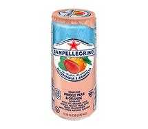 SANPELLEGRINO Sparkling Fruit Beverage Sleek Can 330ml Ficondindia E Aranciata (Prickly Pear & Orange)