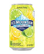 Ice Mountain Sparkling 12oz Can Lemon Lime