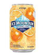 Ice Mountain Sparkling 12oz Can Orange