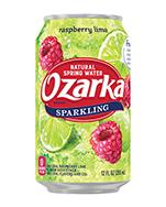 Ozarka Sparkling 12oz Can Raspberry Lime