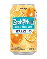 Zephyrhills Sparkling 12oz Can Orange