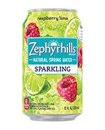 Zephyrhills Sparkling 12oz Can Raspberry Lime