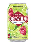 Arrowhead Sparkling 12oz Can Raspberry Lime