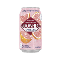 Arrowhead Sparkling 12oz  Can Ruby Red Grapefruit