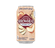 Arrowhead Sparkling 12oz Can White Peach Ginger