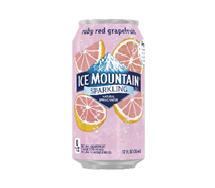 Ice Mountain Sparkling 12oz  Can Ruby Red Grapefruit