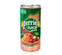 Perrier + Juice 330ml Peach-Cherry