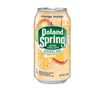 Poland Spring Sparkling  12oz Can Orange Mango