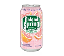 Poland Spring Sparkling 12oz  Can Ruby Red Grapefruit