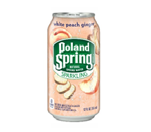 Poland Spring Sparkling 12oz Can White Peach Ginger