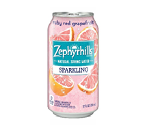 Zephyrhills Sparkling 12oz Can Ruby Red Grapefruit