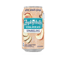 Zephyrhills Sparkling 12oz Can White Peach Ginger
