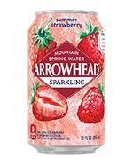 Arrowhead Sparkling 12oz Can Strawberry
