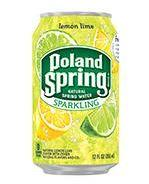 Poland Spring Sparkling 12oz Can Lemon Lime