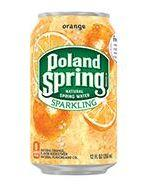 Poland Spring Sparkling 12oz Can Orange