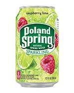 Poland Spring Sparkling 12oz Can Raspberry Lime