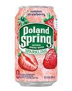 Poland Spring Sparkling 12oz Can Strawberry